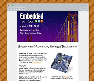 EmbeddedTechCon Promotion