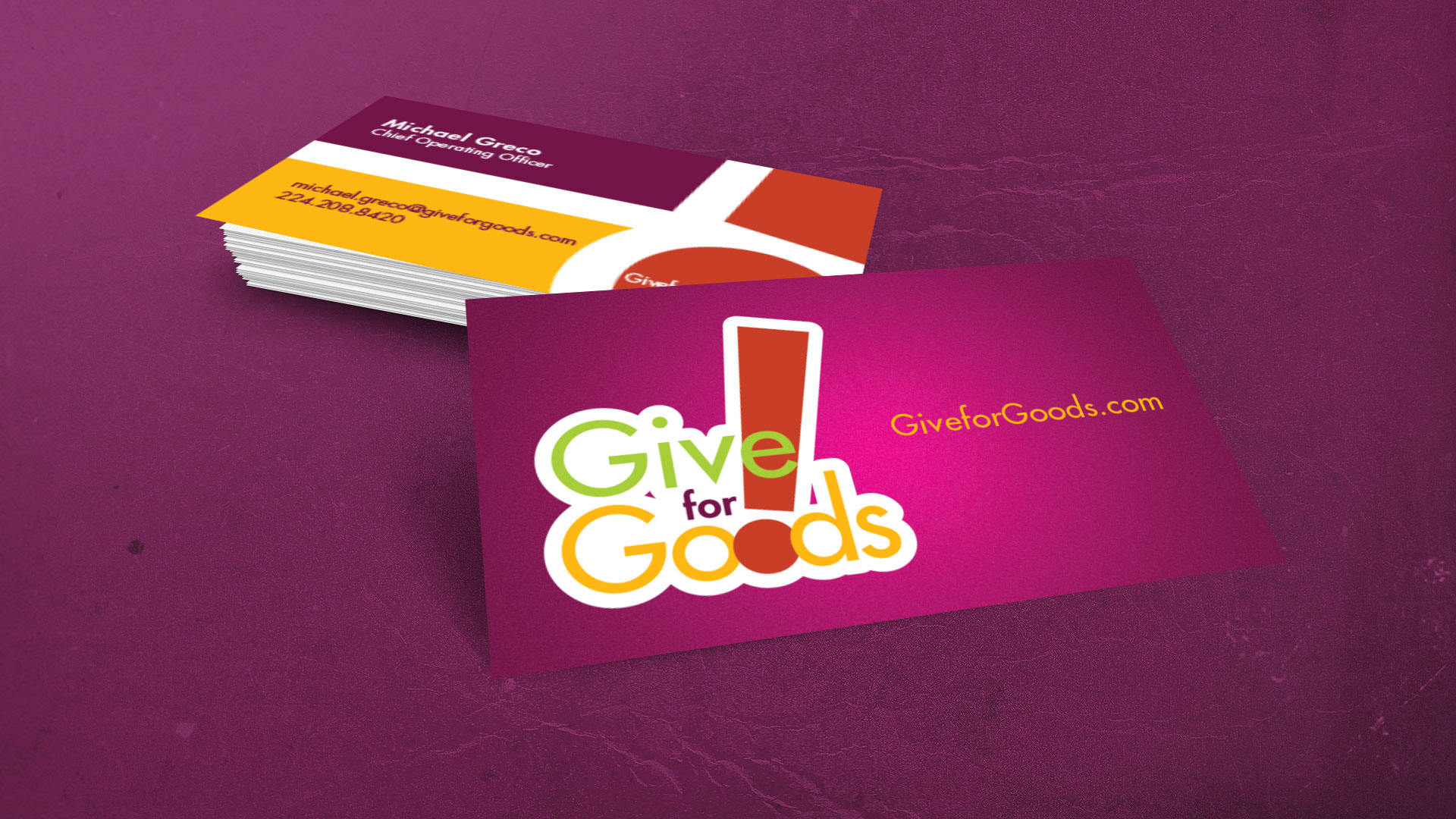 Give for Goods Business Card